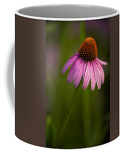 Purple Cone Flower Portrait Coffee Mug