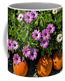 Purple Daisies And A Touch Of Orange Coffee Mug