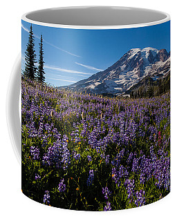 Purple Fields Forever And Ever Coffee Mug by Mike Reid