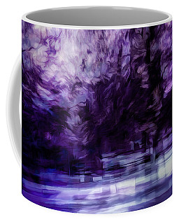 Purple Fire Coffee Mug