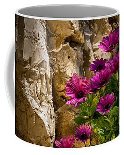 Purple Flowers And Rocks Coffee Mug