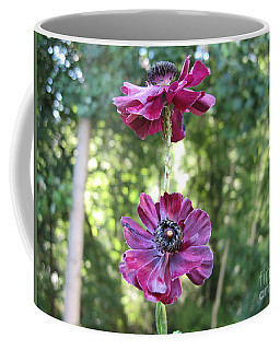 Purple Flowers Coffee Mug by HEVi FineArt