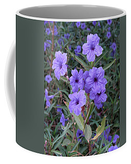 Coffee Mug featuring the photograph Purple Flowers by Laurel Powell