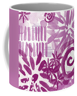 Purple Garden - Contemporary Abstract Watercolor Painting Coffee Mug