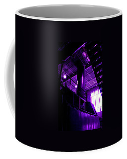Coffee Mug featuring the photograph Purple Generator by Cleaster Cotton