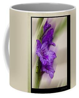 Purple Gladiolus Bloom Coffee Mug