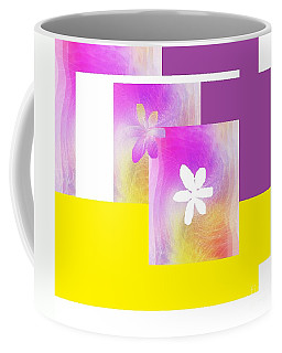 Purple Glow Flower Coffee Mug