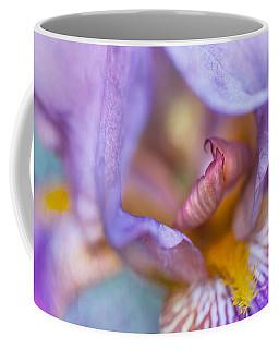 Purple Glow. Macro Iris Series Coffee Mug by Jenny Rainbow