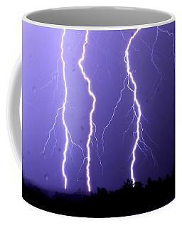 Purple Rain Lightning Coffee Mug