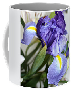 Purple Iris Coffee Mug by Ellen O'Reilly