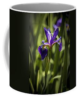 Purple Iris Coffee Mug by Penny Lisowski