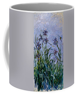 Purple Irises Coffee Mug