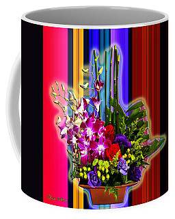 Purple Lady Flowers Coffee Mug