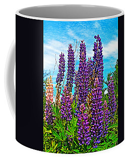 Purple Lupine Along Confederation Trail-prince Edward Island  Coffee Mug