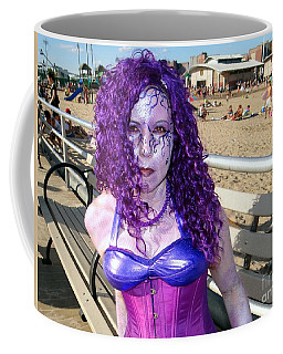Coffee Mug featuring the photograph Purple Mermaid by Ed Weidman
