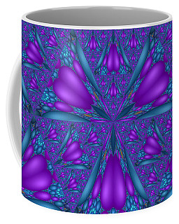 Purple Mixed Fractal Flower Coffee Mug