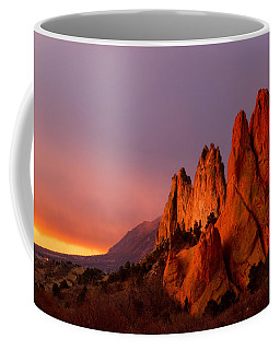 Purple Morning At Garden Of The Gods Coffee Mug