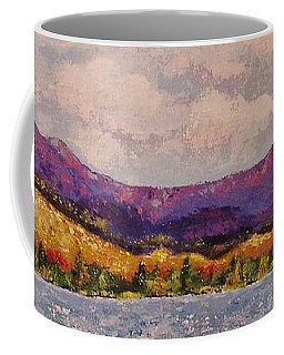 Coffee Mug featuring the painting Purple Mountain Majesty by Margaret Bobb