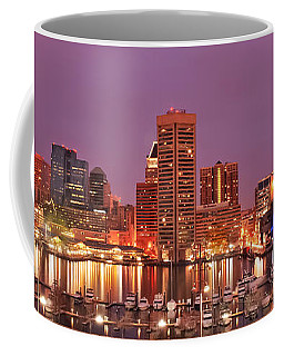 Purple Night In Baltimore Coffee Mug