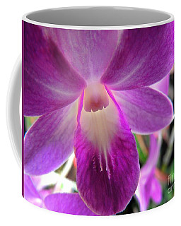 Coffee Mug featuring the photograph Purple Orchid by Kristine Merc