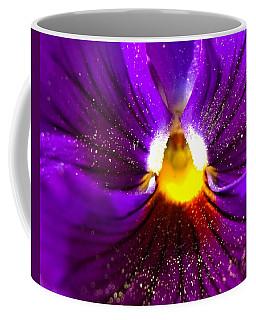 Purple Pansy Detail Coffee Mug