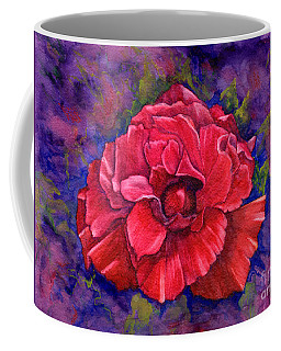 Coffee Mug featuring the painting Purple Passion by Nancy Cupp