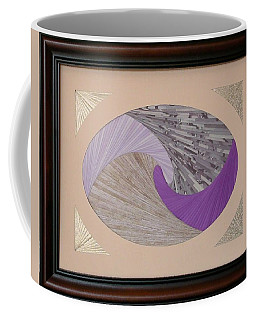 Coffee Mug featuring the mixed media Purple Passion by Ron Davidson