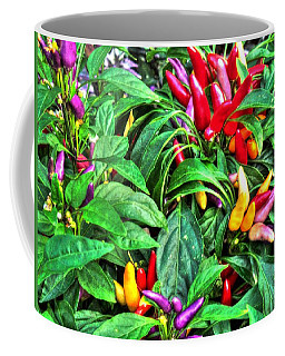 Coffee Mug featuring the photograph Purple Peppers by Lanita Williams