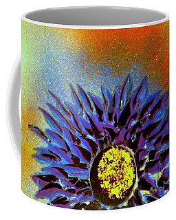 Coffee Mug featuring the painting Purple Petals by Greg Moores
