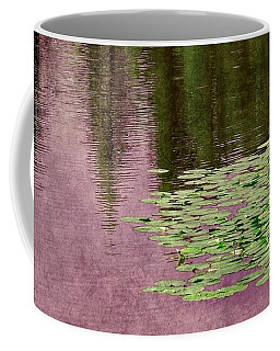 Coffee Mug featuring the photograph Purple Pond Reflections by Patricia Strand