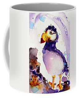 Purple Puffin Coffee Mug