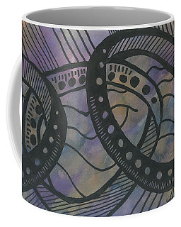 Purple Rings Coffee Mug