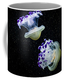 Purple Spaceships Coffee Mug