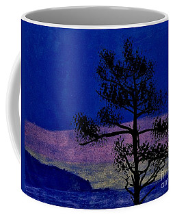 Coffee Mug featuring the drawing Purple Sunset Bay by D Hackett