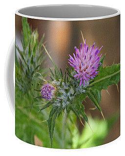 Coffee Mug featuring the photograph Purple Thistle by Jennifer Muller