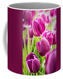 Purple Tulip Garden Coffee Mug