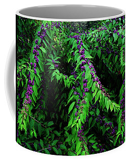 Coffee Mug featuring the photograph Purple Vibe by Deborah  Crew-Johnson
