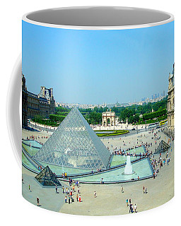 Pyramid At The Louvre Coffee Mug by Kay Gilley