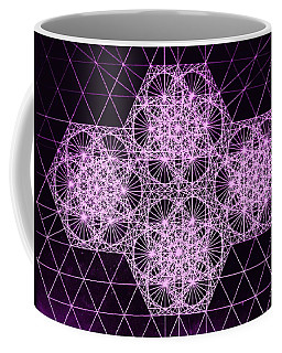 Coffee Mug featuring the drawing Quantum Snowfall by Jason Padgett