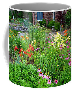 Coffee Mug featuring the photograph Quarter Circle Garden by Kathryn Meyer