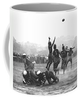 Quarterback Throwing Football Coffee Mug