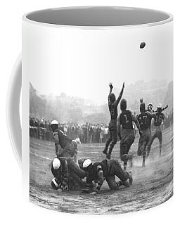 Quarterback Throwing Football Coffee Mug