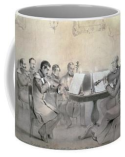 Quartet Of The Composer Count A. F. Lvov, 1840 Pencil On Paper Coffee Mug