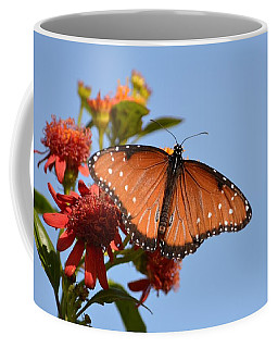Coffee Mug featuring the photograph Queen Butterfly by Debra Martz