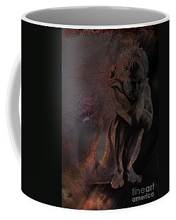 Coffee Mug featuring the drawing Quiescent II. Textured by Paul Davenport