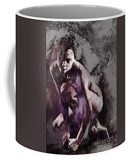 Coffee Mug featuring the drawing Quiescent With Texture by Paul Davenport