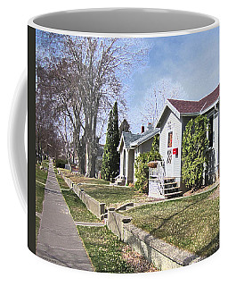 Quiet Street Waiting For Spring Coffee Mug