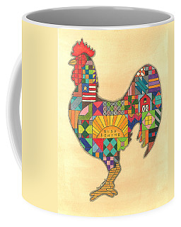 Quilted Rooster Coffee Mug