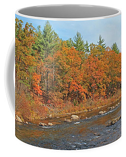 Quinapoxet River In Autumn Coffee Mug