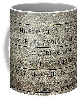 Quote Of Eisenhower In Normandy American Cemetery And Memorial Coffee Mug